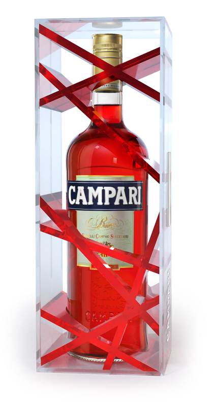 Campari : packaging édition limitée, travel retail