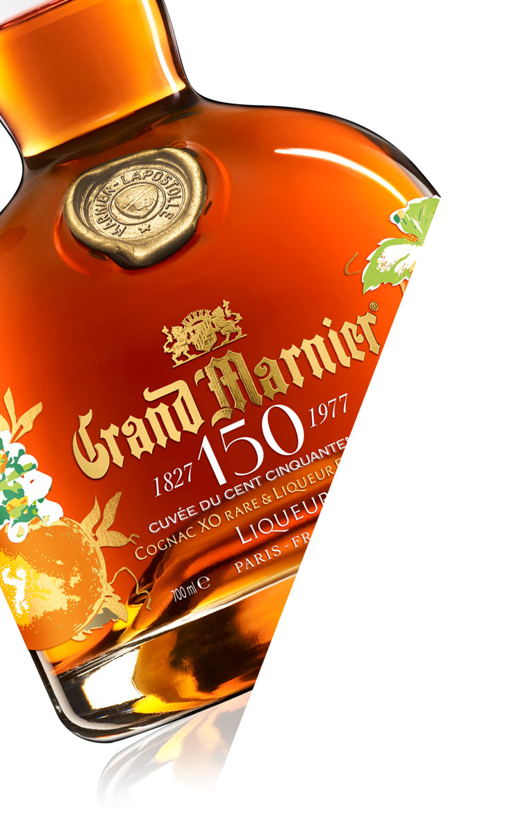 Grand Marnier cuvée du cencinquantenaire : lifting packaging.